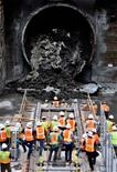 TBM Angeli-Construction milestone for Regional Connector Transit Project
